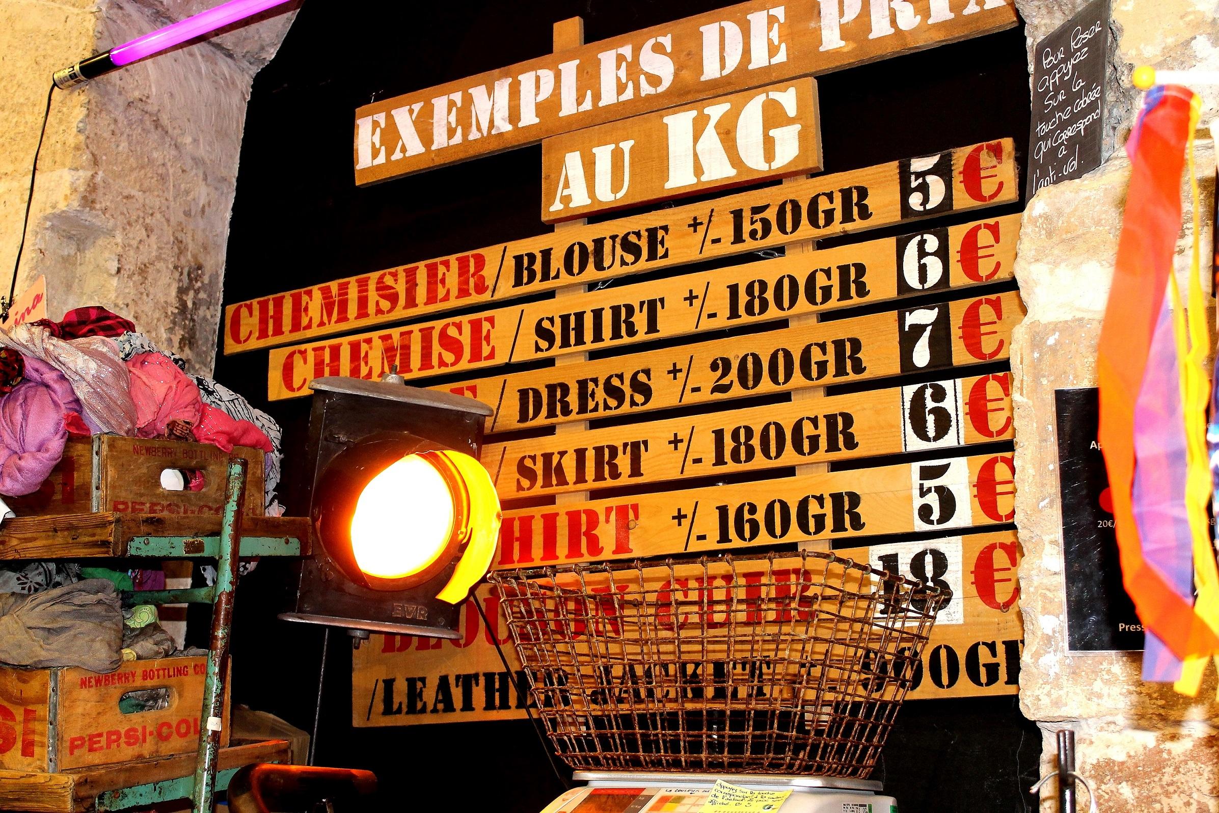 kilo shop vintage le marais