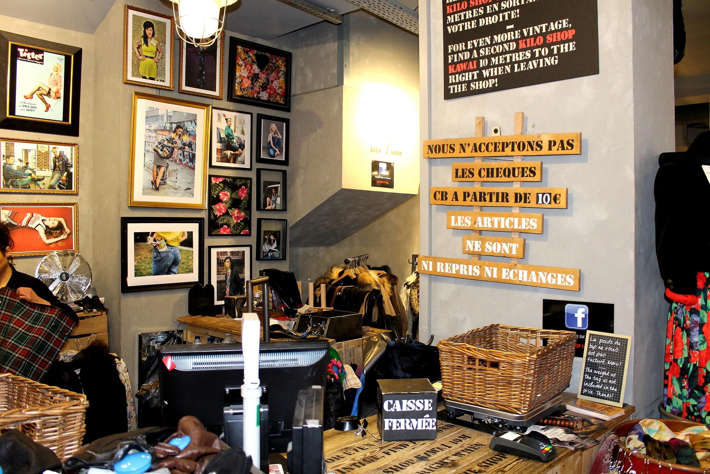 le marais vintage shop kilo shop