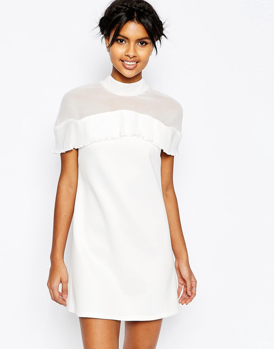Asos white mini dress spring