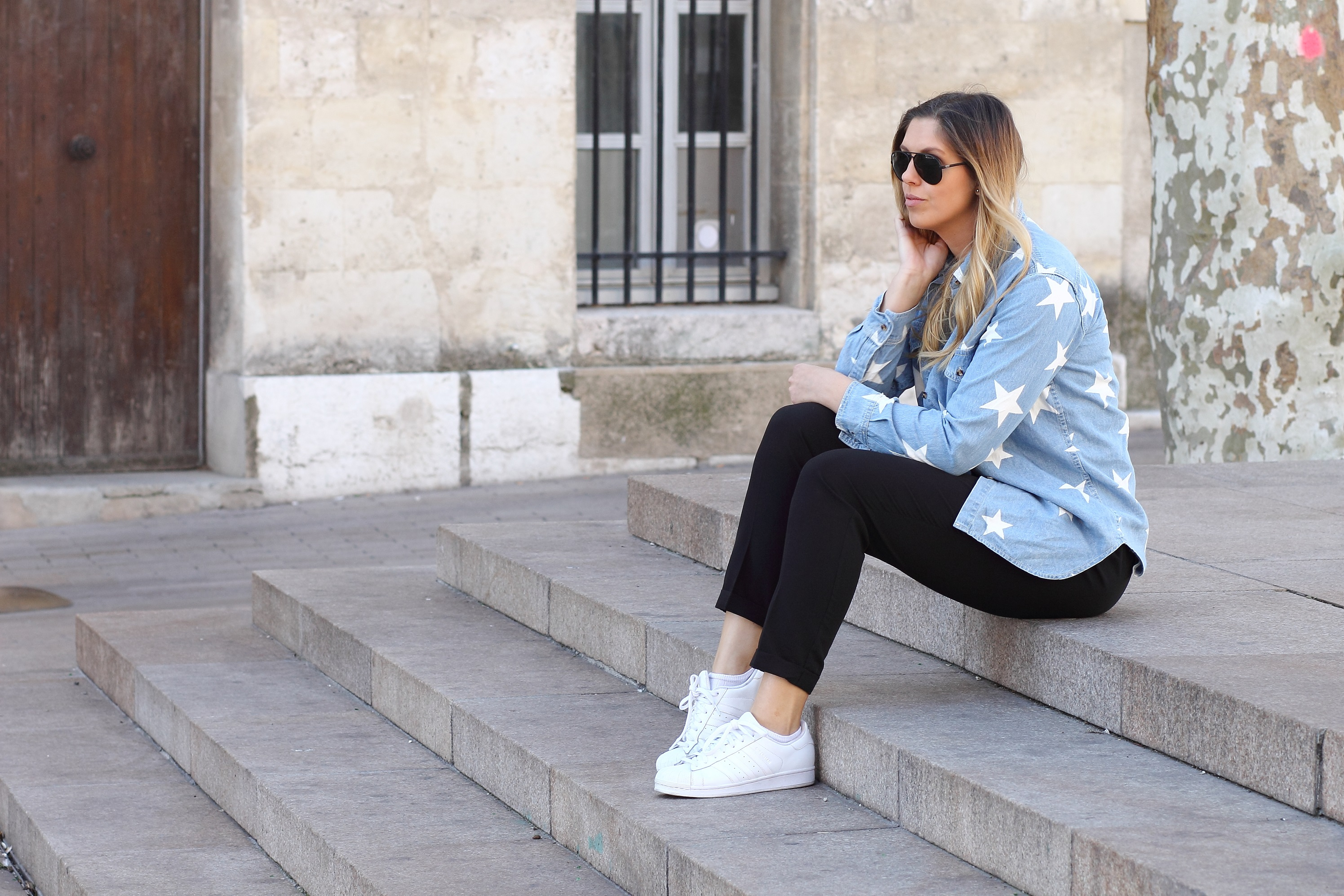 Asos denim shirt asos high waisted pants