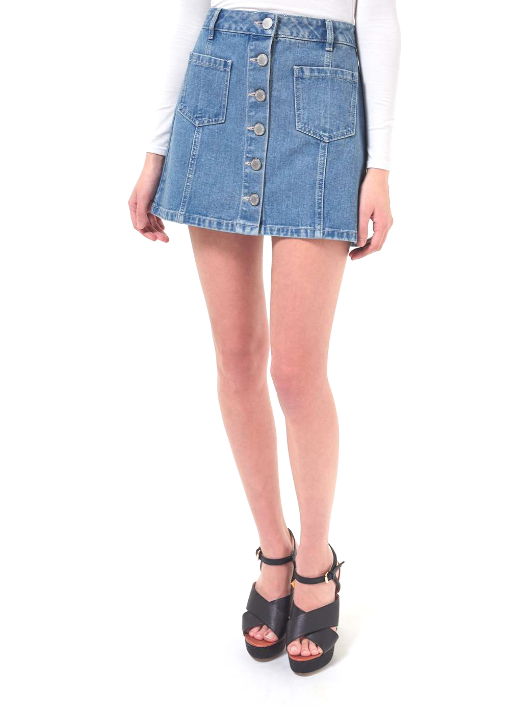 Spring miss selfridge denim skirt