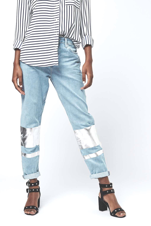 Spring topshop jeans denim silver