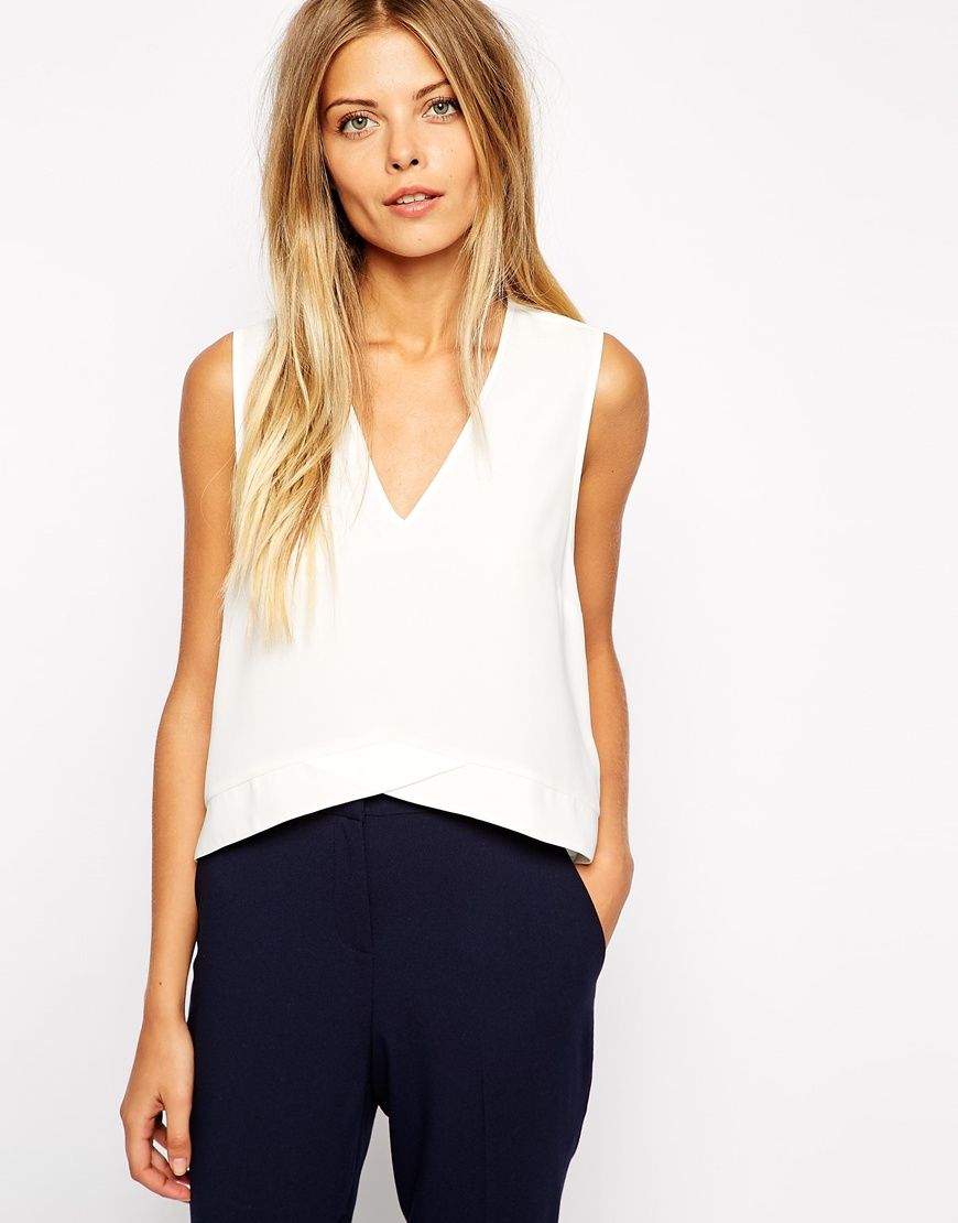 Spring asos white blouse basic
