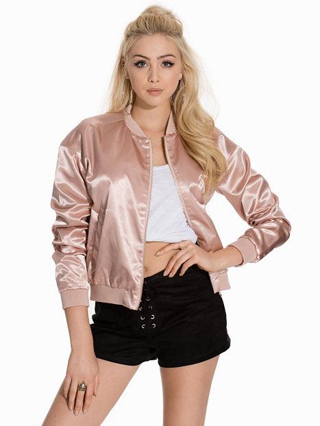 spring pink bomber jacket shiny