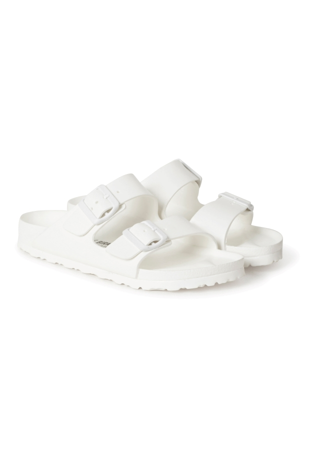 spring weekday birkenstocks white