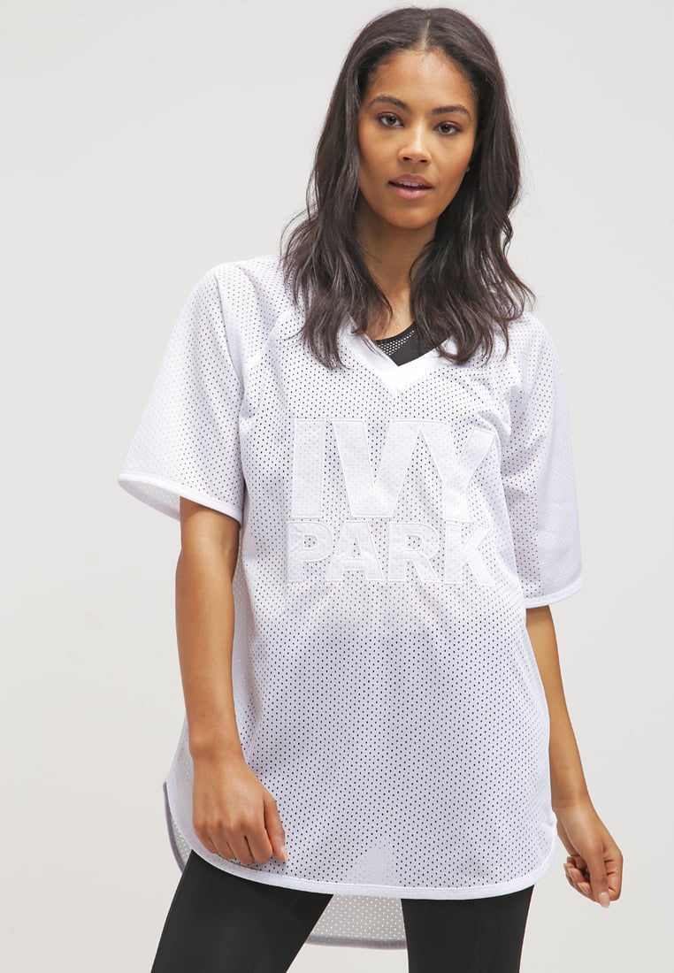 ivy park white football shirt long
