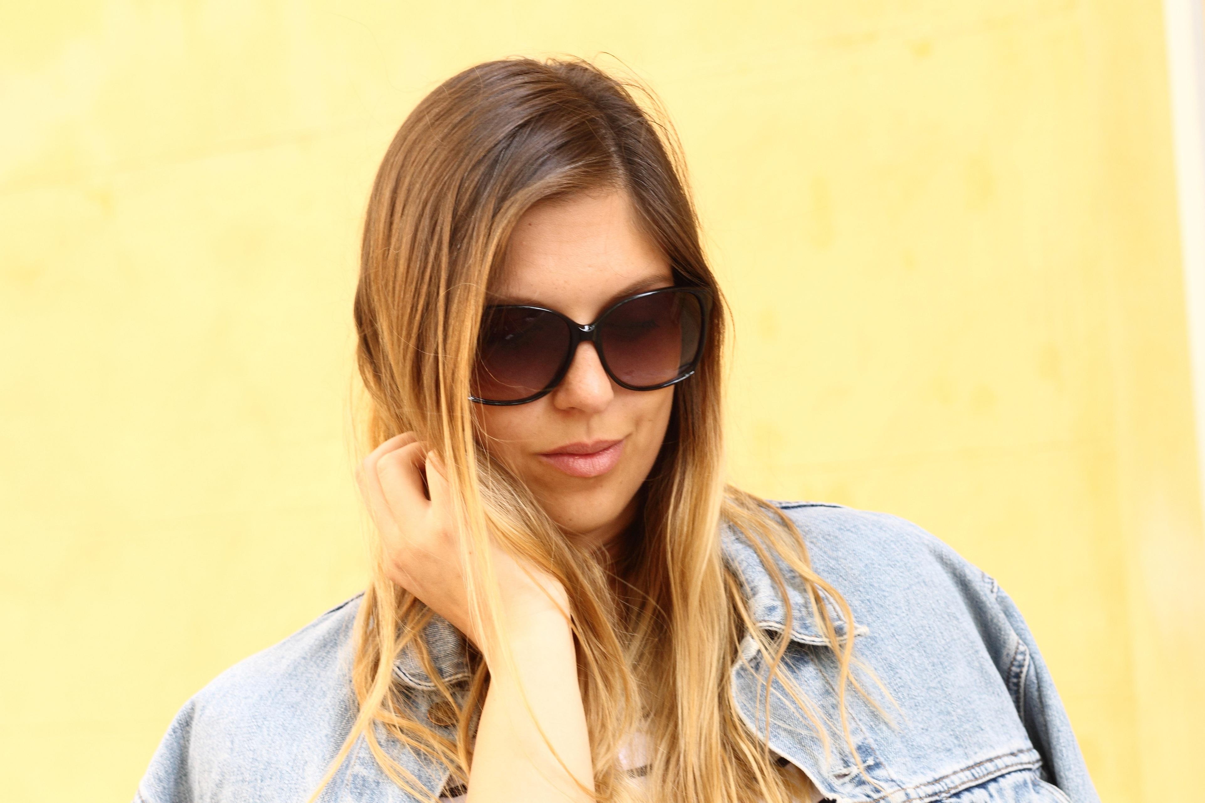 missoni sunglasses close up denim jacket