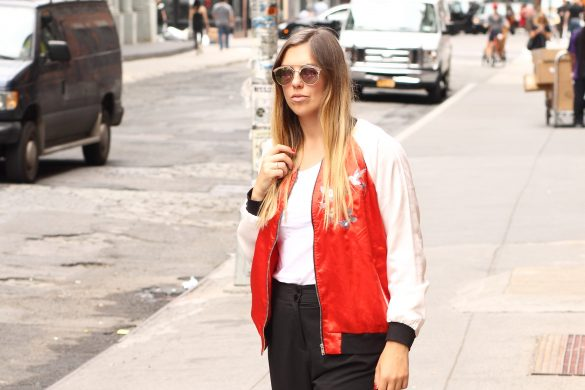 bomberjacket satin soho nyc