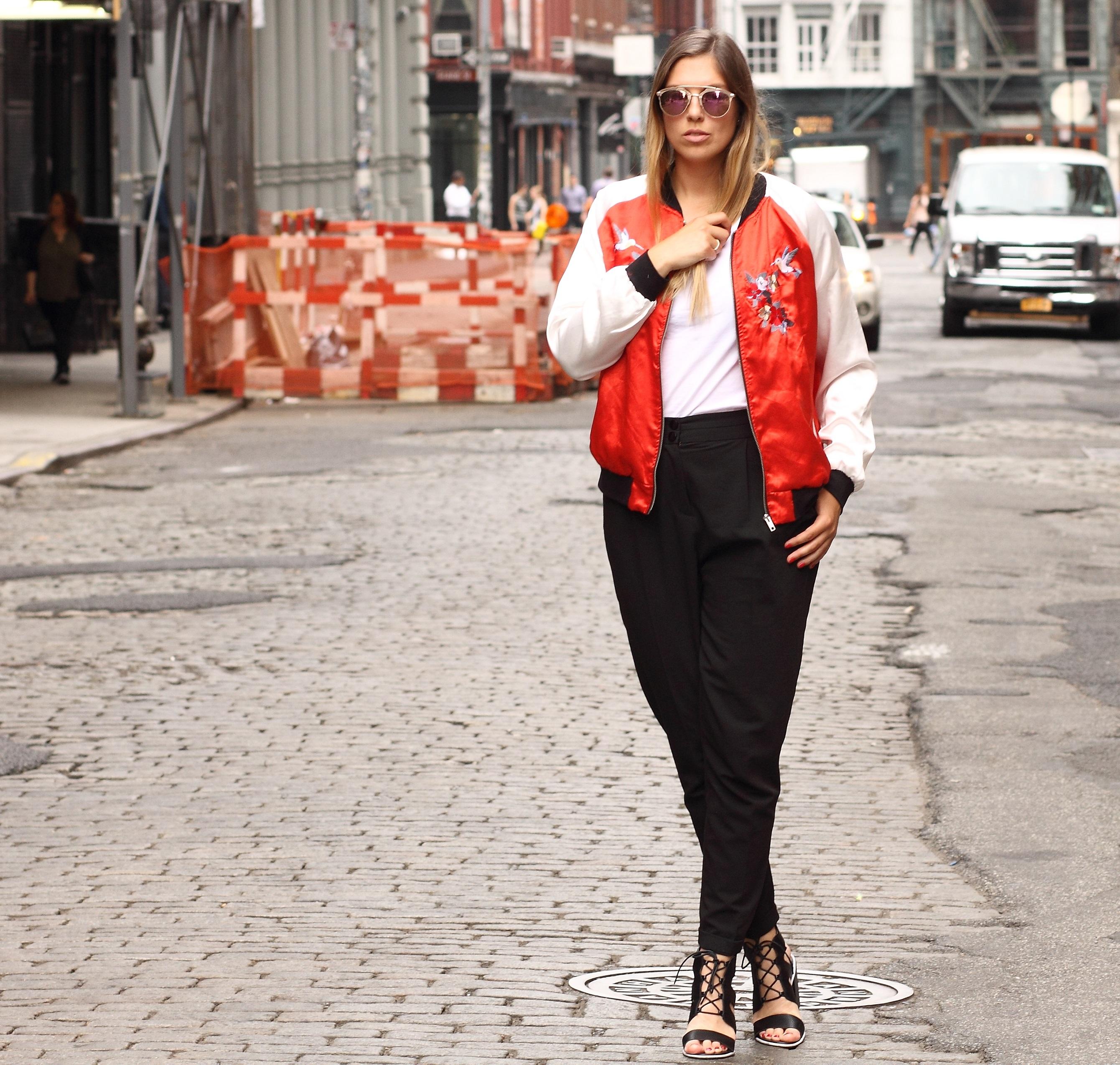 soho streets bomberjacket satin