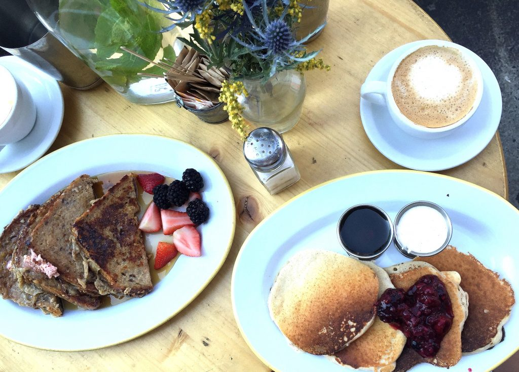 the butchers daughter breakfast new york french toast pancakes