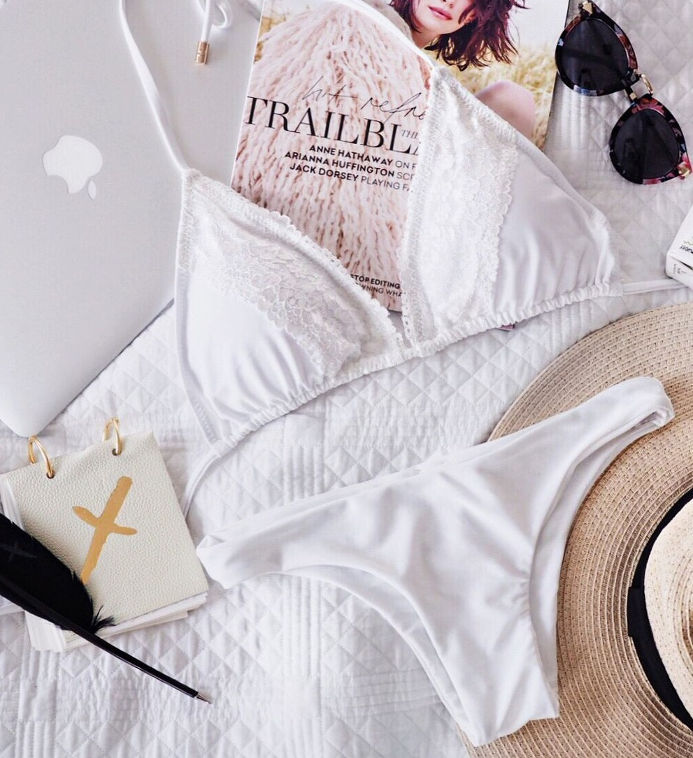 to die for swimwear flatlay