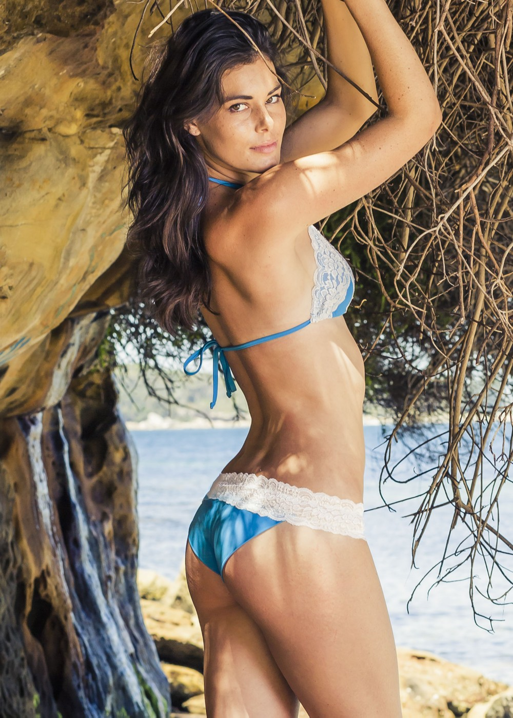 to die for swimwear lace bikini blue white