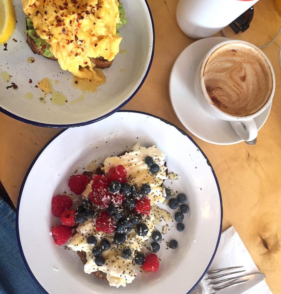 two hands cafe avocado toast breakfast new york city
