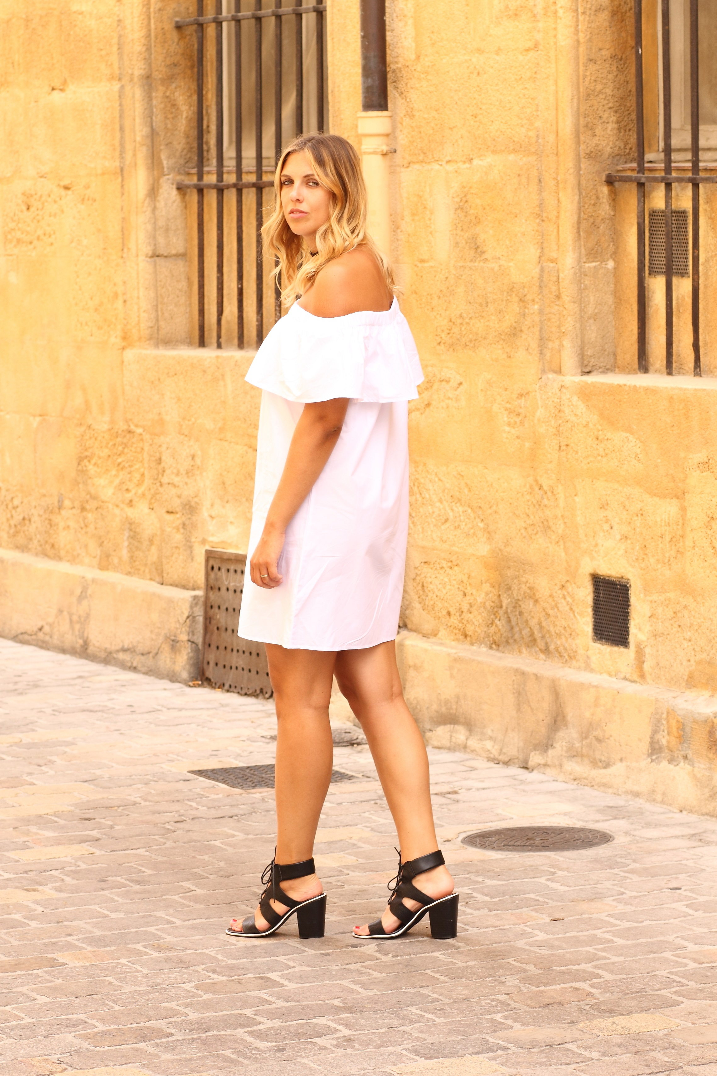 romwe off shoulder dress