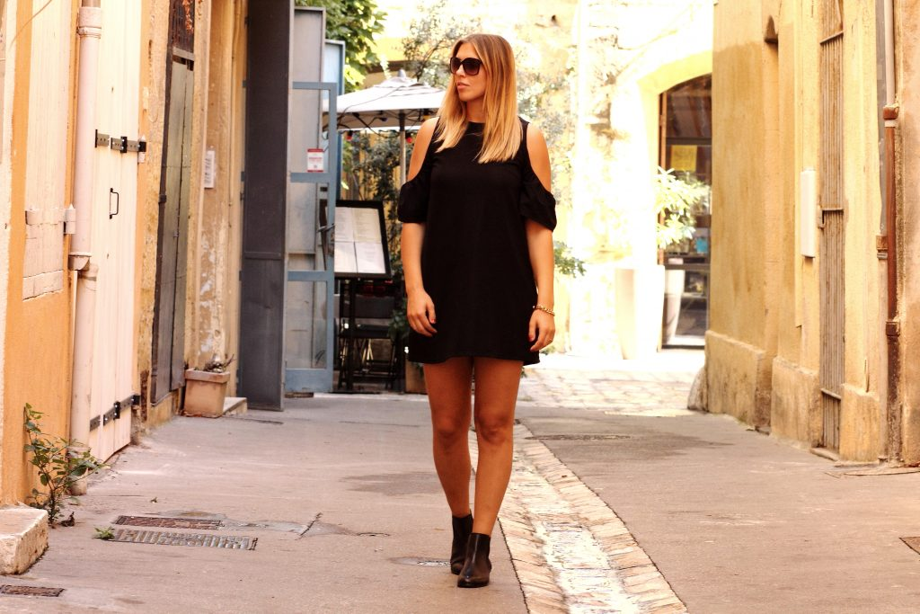 black-zara-off-shoulder-dress-1