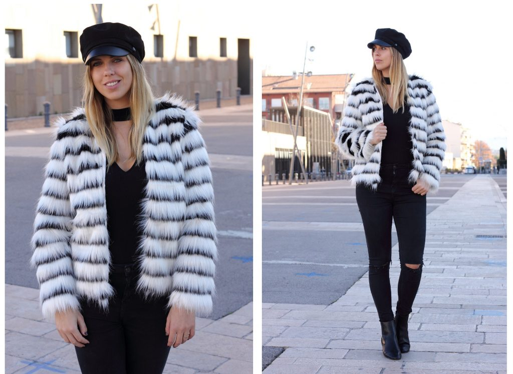 shein fake fur jacket