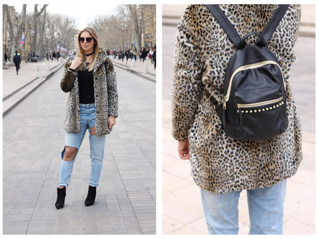 ripped denim leo coat