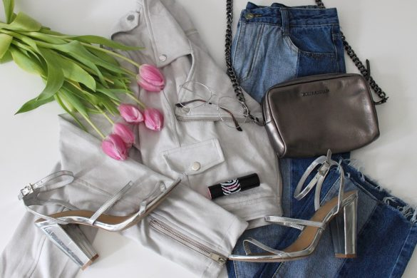 Shein two tone jeans and jacket