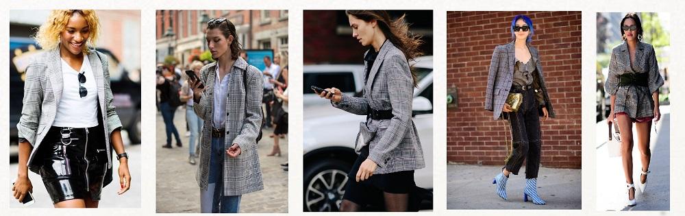 NYFW Streetstyle trends gingham blazer