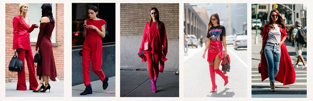 nyfw streetstyle trends red