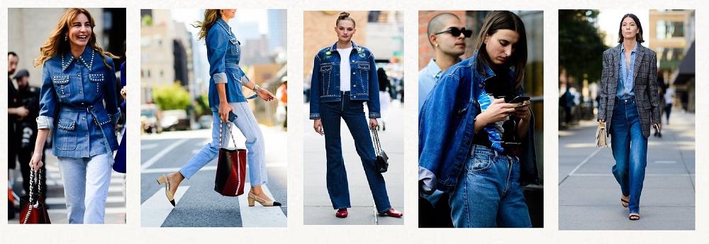 nyfw streetstyle trends denim on denim