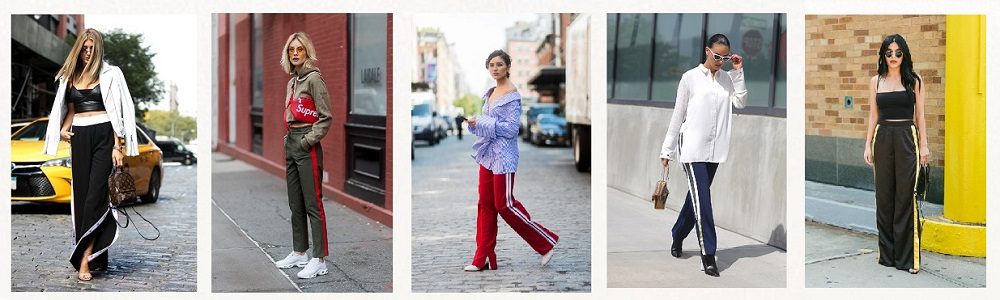 nyfw streetstyle trends track pants