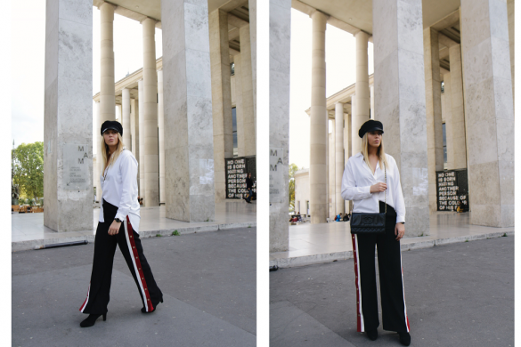 track pants paris fashion week