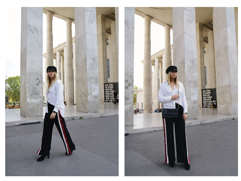 track pants paris fashion week