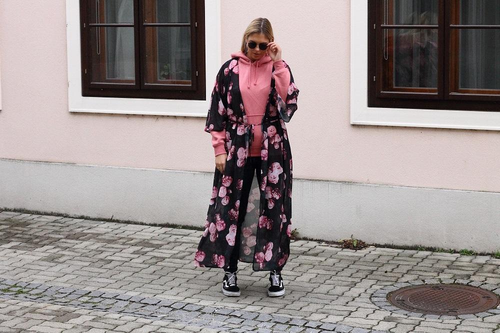 na-kd chiffon coat dress